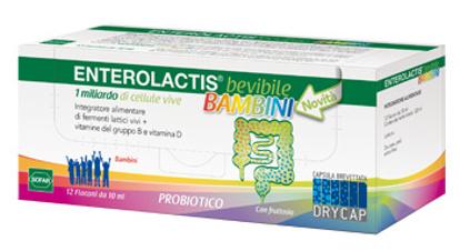 Immagine di ENTEROLACTIS BEVIBILE BAMBINI 12 FLACONCINI DA 10 ML
