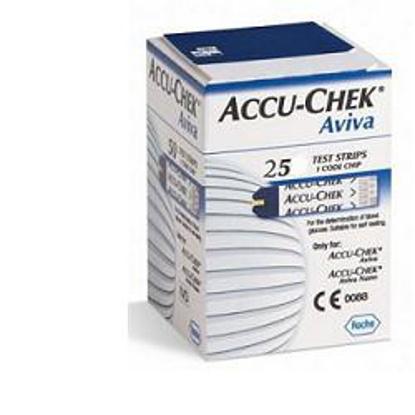 Immagine di STRISCE MISURAZIONE GLICEMIA ACCU-CHEK AVIVA BRK RETAIL 25 PEZZI