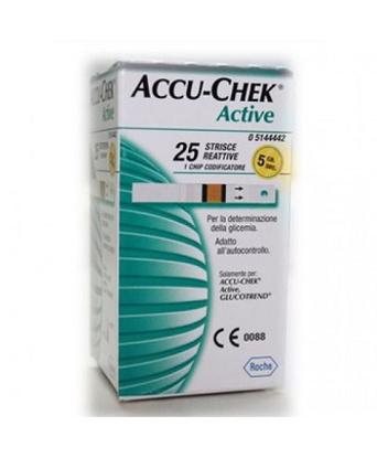 Immagine di STRISCE MISURAZIONE GLICEMIA ACCU-CHEK ACTIVE STRIPS 25 PEZZI INF RETAIL