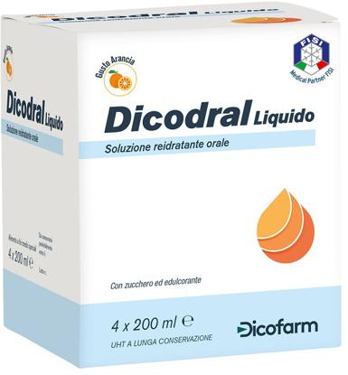 Immagine di DICODRAL LIQUIDO SOLUZIONE REIDRATANTE ORALE 4 X 200 ML