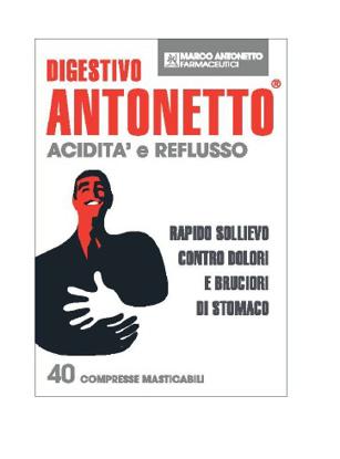 Immagine di DIGESTIVO ANTONETTO ACIDITA' E REFLUSSO 40 COMPRESSE MASTICABILI