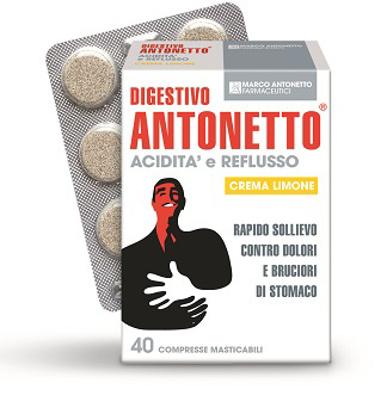 Immagine di DIGESTIVO ANTONETTO ACIDITA' E REFLUSSO CREMA AL LIMONE 40 COMPRESSE MASTICABILI