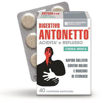 Immagine di DIGESTIVO ANTONETTO ACIDITA' E REFLUSSO CREMA ALLA MENTA 40 COMPRESSE MASTICABILI