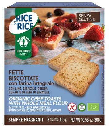 Immagine di RICE & RICE FETTE BISCOTTATE CON FARINA INTEGRALE 300 G