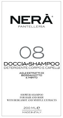 Immagine di NERA' 08 DOCCIA SHAMPOO DETERGENTE CORPO CAPELLI ESTRATTI BERGAMOTTO E MIRTO 200 ML