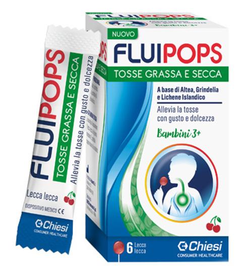 Immagine di FLUIPOPS 6 LECCA LECCA GUSTO CILIEGIA PER TOSSE