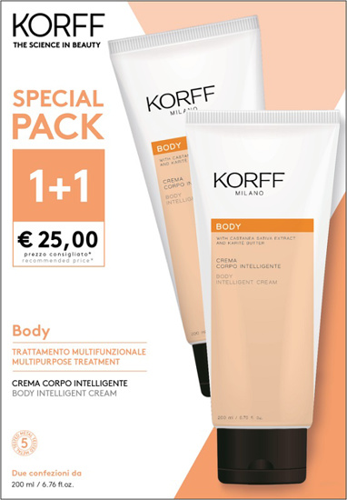 Immagine di BODY CREMA CORPO INTELLIGENTE 200 ML SPECIAL PACK 1+1