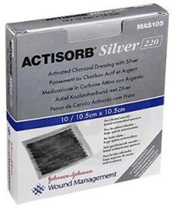 Immagine di ACTISORB SILVER MEDICAZIONE IN CARBONE ATTIVO CON ARGENTO 10,5X10,5 CM 3 PEZZI