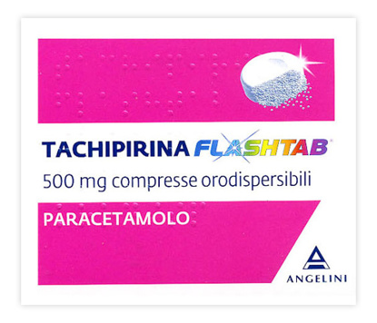 Immagine di TACHIPIRINA FLASHTAB 500 MG COMPRESSE ORODISPERSIBILI
