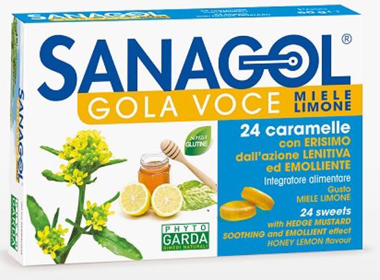 Immagine di SANAGOL GOLA VOCE MIELE LIMONE 24 CARAMELLE