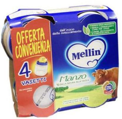 Immagine di MELLIN OMOGENEIZZATO MANZO 4X80 G