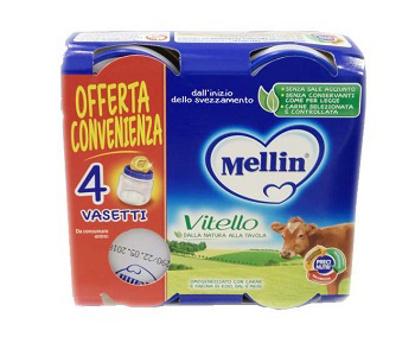 Immagine di MELLIN OMOGENEIZZATO VITELLO 4 PEZZI X 80 G