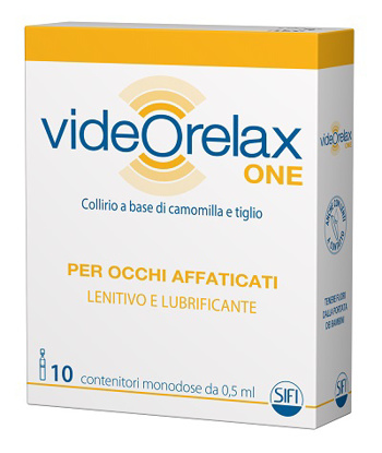 Immagine di COLLIRIO VIDEORELAX ONE LENITIVO E LUBRIFICANTE OCCHI AFFATICATI 10 CONTENITORI MONODOSE 0,5 ML