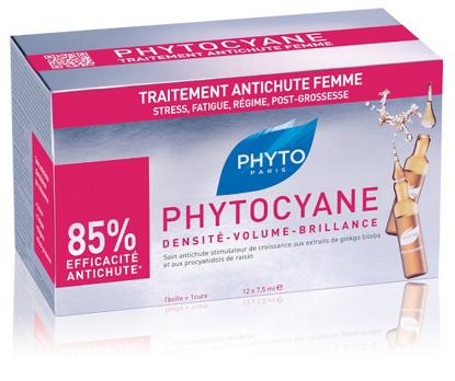 Immagine di PHYTO PHYTOCYANE TRATTAMENTO ANTICADUTA CAPELLI DONNA 12 FIALE 7,5 ML