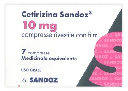 Immagine di CETIRIZINA SANDOZ 10 MG COMPRESSE RIVESTITE CON FILM
