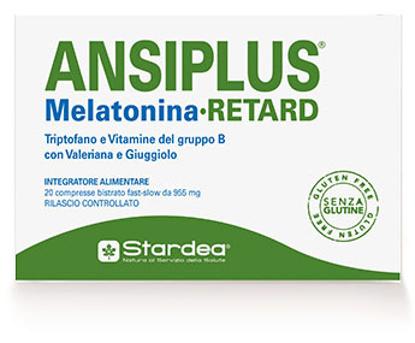 Immagine di ANSIPLUS RETARD MELATONINA 20 COMPRESSE BISTRATO FAST SLOW 955 MG