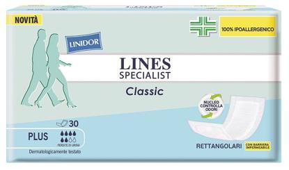 Immagine di PANNOLONE LINES SPECIALIST CLASSIC RETTANGOLARE CON BARRIERA 30 PEZZI