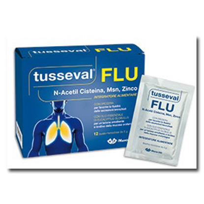 Immagine di TUSSEVAL FLU 12 BUSTINE SOLUBILI 60 G