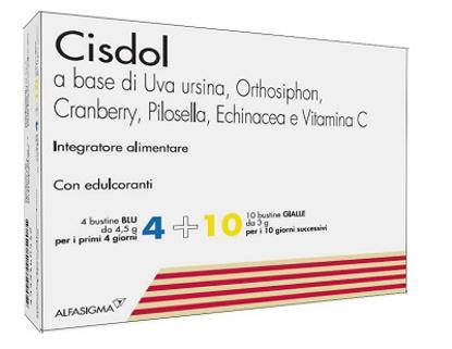 Immagine di CISDOL 4 BUSTINE BLU DA 4,5 G + 10 BUSTINE GIALLE DA 3 G