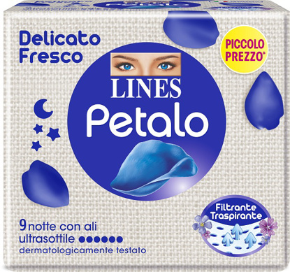 Immagine di LINES PETALO BLU ASSORBENTE NOTTE 9 PEZZI