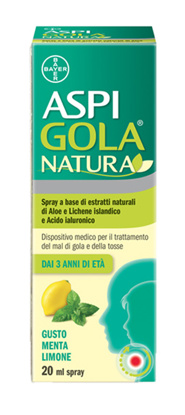 Immagine di ASPI GOLA NATURA SPRAY MENTA LIMONE 20 ML