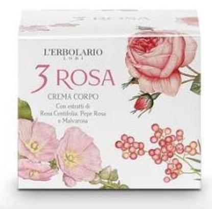 Immagine di 3 ROSA CREMA CORPO 200 ML