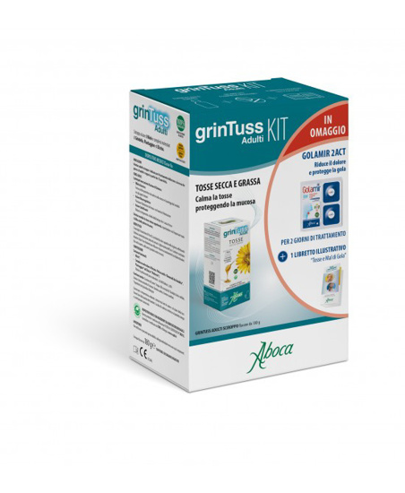 Immagine di GRINTUSS ADULTI KIT SCIROPPO CON POLIRESIN 180 G + GOLAMIR 2 ACT 20 COMPRESSE OROSOLUBILI