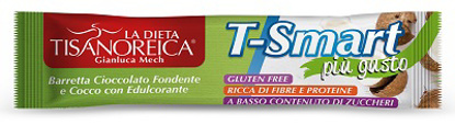 Immagine di TISANOREICA STYLE BARRETTA T SMART COCCO CIOCCOLATO FONDENTE 35 G