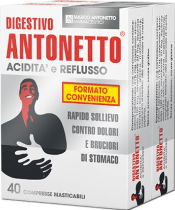Immagine di DIGESTIVO ANTONETTO ACIDITA' E REFLUSSO 80 COMPRESSE MASTICABILI 2 ASTUCCI DA 40 COMPRESSE