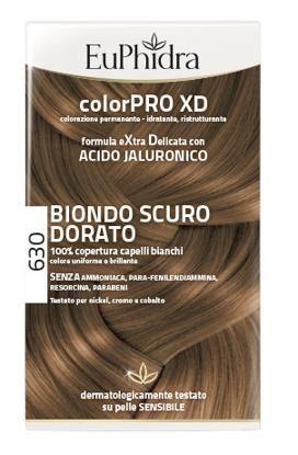 Immagine di EUPHIDRA COLORPRO XD 630 BIONDO SCURO DORATO GEL COLORANTE CAPELLI IN FLACONE + ATTIVANTE + BALSAMO + GUANTI