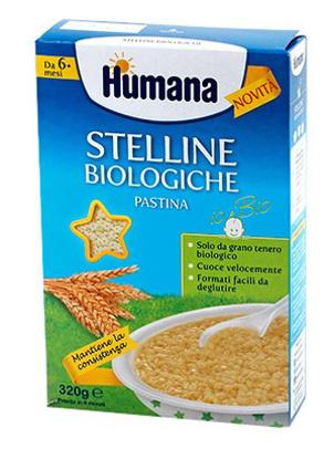 Immagine di HUMANA STELLINE PASTINA BIOLOGICA 320 G