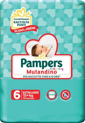 Immagine di PAMPERS BABY DRY MUTANDINO SM TAGLIA 6 EXTRALARGE SMALL PACK 14 PEZZI