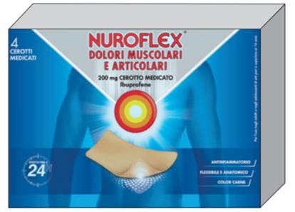 Immagine di NUROFLEX DOLORI MUSCOLARI E ARTICOLARI, 200 MG CEROTTO MEDICATO